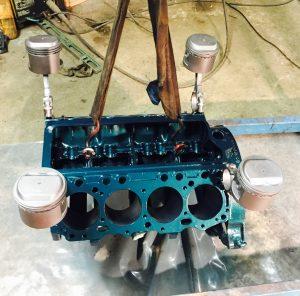 Gammel V8 motor